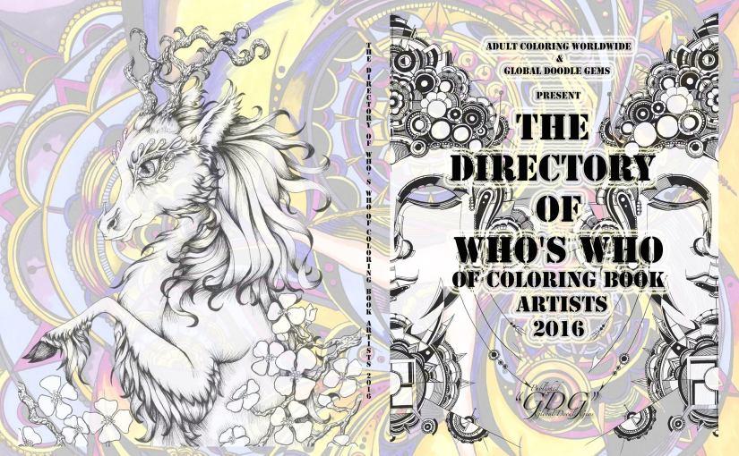 "Global Doodle Gems-Adult Coloring Worldwide Kick off… ""Artist Directory"" Volume1"