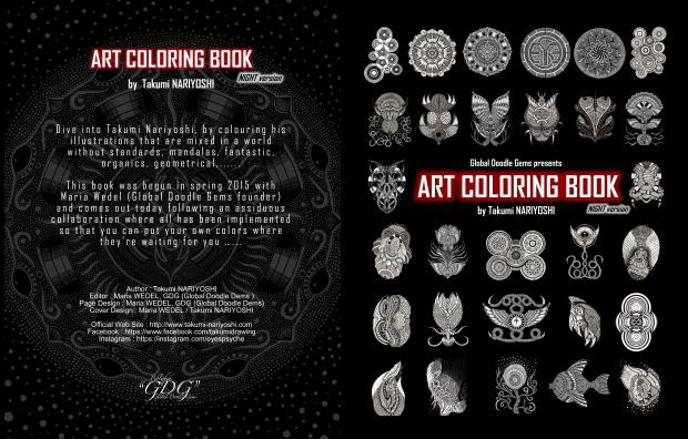 Global Doodle Gems Volume 3 Art Coloring Book Night