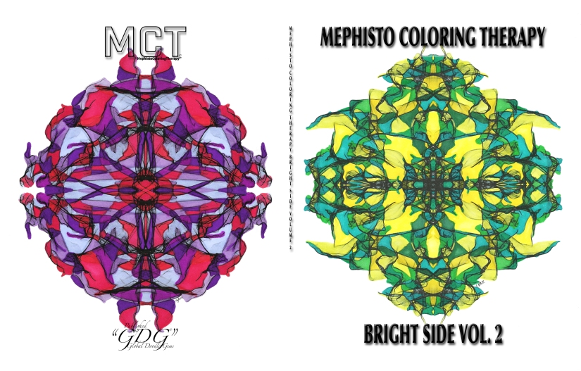 """Mephisto Coloring Therapy"" Volume 2 ""Brightside & Darkside"""