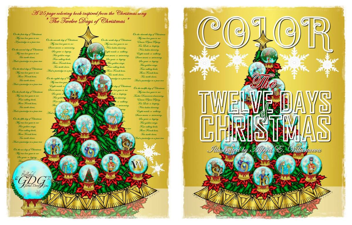 """GDG """"Color the Twelve Days of Christmas"""" by Alfred E. Villanueva"""